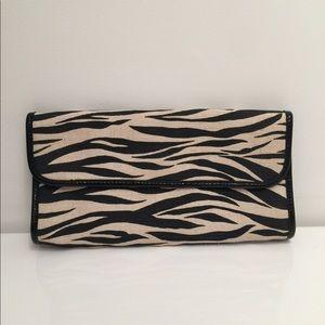 Banana Republic Black & White Zebra Clutch Purse